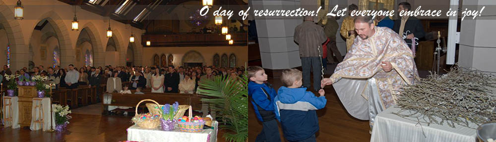 Oh day of resurrection! Let everyone embrace in joy!